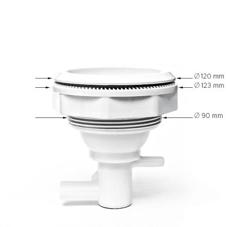 Masážní tryska NEREZ BIG dvourotační 126 mm/ 5″ - KOMPLETNÍ