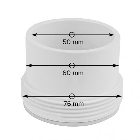 Připojovací prvek k topení BALBOA – Průměr 50 mm