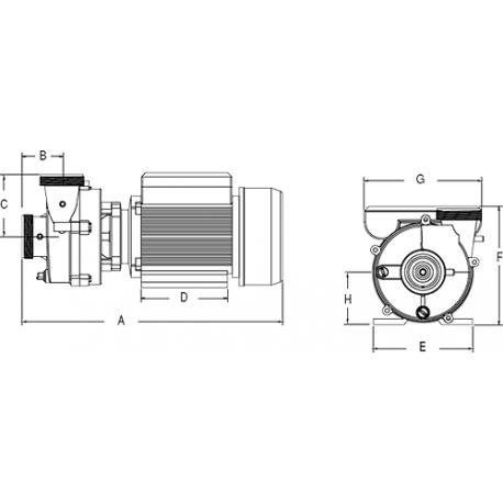 Masážní čerpadlo pro vířivku Niagara SPA Pump 3 HP / 1-Speed