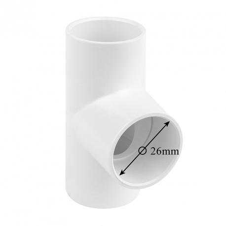 T – kus 90° k nalepení na hadici (Ø 26mm)