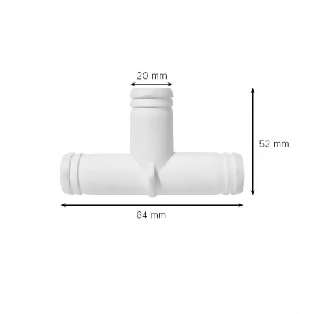 Plastový T-Kus na hadici – Průměr 20mm
