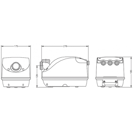 Balboa Genesis Kompresor, 500W pro vířivky pro SPA – G50-2NN-S