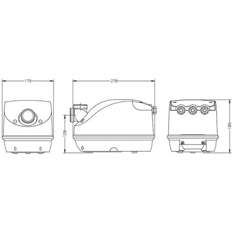 Balboa Genesis Kompresor, 700W s předehřevem pro vířivky pro SPA - G70-2HN-S