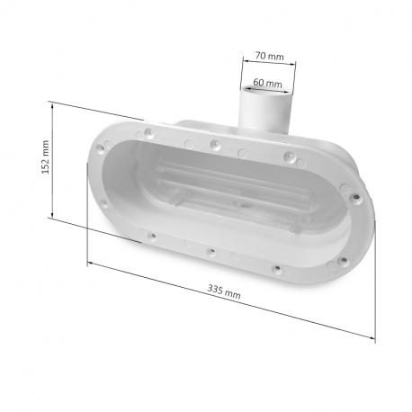 TYPHOON LINEAR SWIM - Plast - Plavecká protiproudová tryska pro Swim Spa